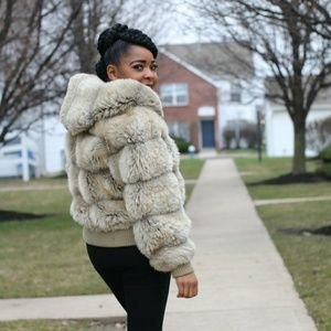 Real Fur jacket. Very warm for the winter
